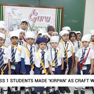Class-1-students-made-'Kirpan'-as-craft-work