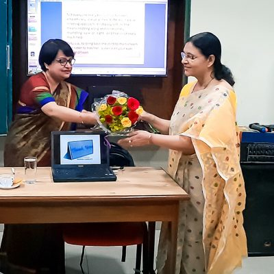 Flower giving to Indrani ganguly-2 copy