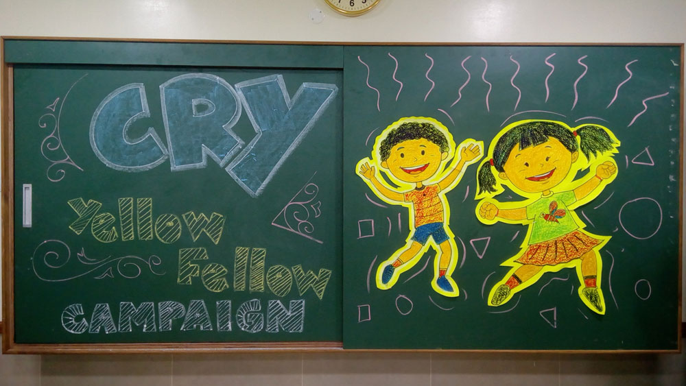 Yellow Fellow'- A national campaign by CRY(Child Rights and You) NGO