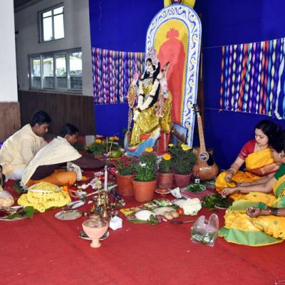 Saraswati Puja Celebration at Ruby Park Public School